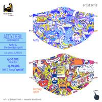 Art Mask 2ply - Addy Debil - Hefty and The Teenage Spirit