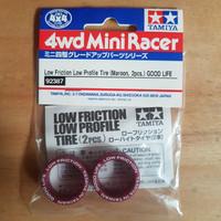 tamiya ban low friction good life tire ( maroon, 2 pcs)