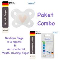 Dentistar Paket Combo Newborn 0-2 bulan + Mouth Cleaning Finger - Heart Cream