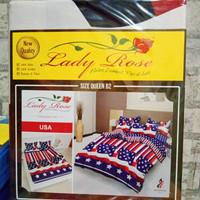 sprei lady rose 160x200 USA