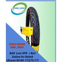Ban Motor Bebek 275-17 | 80/90-17 plus Ban Dalam