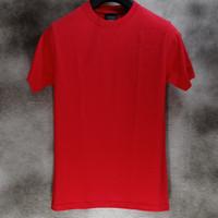 Awkward - Kaos Polos 24s tanpa jahitan samping Merah Fiery - S