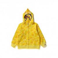 Bape ABC Milo Shark Zip Hoodie Kids Yellow