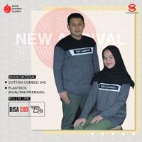 Kaos Dakwah Alzara Muslim , Baju Lengan Panjang Couple Jannati 002-B