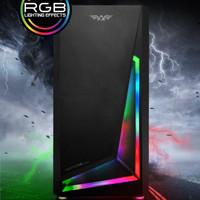 Armaggeddon Nimitz N5 Aurora RGB Strip Black White mATX Gaming Case