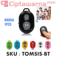 Tongsis Bluetooth Remote Shutter Tombol Selfie For Android iPhone iOS