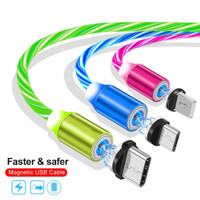 Kabel Data MAGNETIC LED 3IN1 Streamer Glow Led Flowing Fast Charging