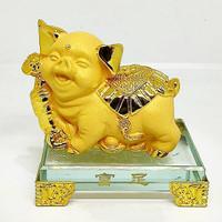 shio babi/babi emas/babi lucu/babi hoki/patung babi/pajangan babi