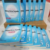 buku bahasa korea terpadu untuk indonesia jilid 1-6(12buku)