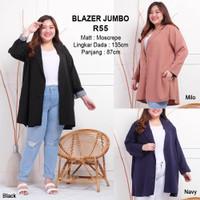 Blazer Jumbo Baju Outer Atasan Wanita Bigsize Lengan Panjang