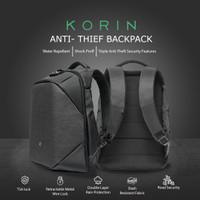 Black Laptop Backpack with TSA lock Anti-Theft (Basic Version) Korin