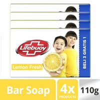 LIFEBUOY SABUN BATANG LEMON FRESH 110G ISI 4PCS (kuning)