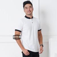 Polo Shirt Kaos Polo Pria Kerah Shanghai Polos Putih JUMBO BIGSIZE