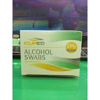 ALCOHOL SWAB ICUMED 2PLAY 70% ETHYL ALCOHOL ISI 100 PCS
