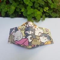 masker kain katun jepang model evo plusmed pink neko amplop - L