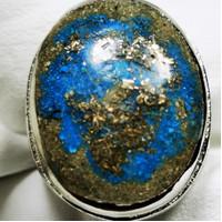 Batu natural pirus Persia urat emas 01