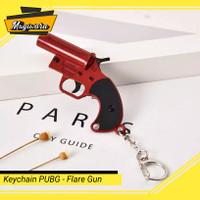Keychain Flare Gun Gantungan Kunci Game PUBG Miniatur Aksesoris Murah