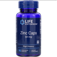 Life Extension Zinc Caps 50 mg, High Potency, 90 Capsule* Made in USA*