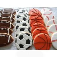 Cookies Bola Olahraga 1 / Kukis hias / Kue kering / Butter cookies