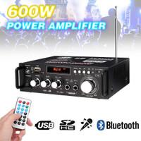 Audio Power Amplifier Bluetooth EQ Karaoke Home Theater FM Radio 600W