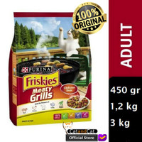 PURINA Friskies Meaty Grill Semua Ukuran 450gr, 1,2kg dan 3kg