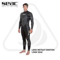 Long Wetsuit Freediving Surfing Emotion 1,5mm Seac Neoprene Baju Selam