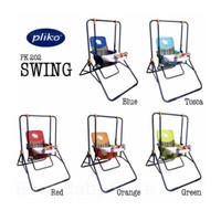 Pliko PK-202 Swing Baby Ayunan Bayi Kursi Makan Bayi Dengan Mainan - Hijau