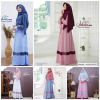 Baju muslim wanita gamis dress maxi set khimar setelan hijab jihan