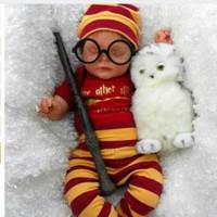 Harry potter baby romper 3in1 set baju jumper baby halloween costume 2