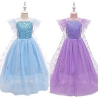 Baju Frozen Elsa Blue Sparkling Dress Kostum Anak Dress Frozen Anak