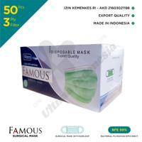 Famous: Surgical Mask 3 Ply - Masker Medis 3 Lapis (Resmi Indonesia)