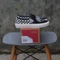 Sepatu Vans Slip On JVH Black Marshmellow Premium BNIB Quality
