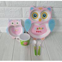 babiesFIRST - BAMBOO FEEDING SET 3D ANIMAL EDITION / TEMPAT MAKAN ANAK