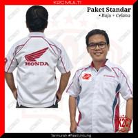 Baju Mekanik Honda | Seragam Mekanik Honda | Seragam Mekanik AHASS