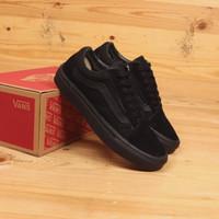 Sepatu Sneakers Pria big size jumbo Vans full black. 44 45 46 Premium