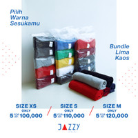 Promo Bundle Kaos Polos JAZZY APPAREL Soft Style Cotton