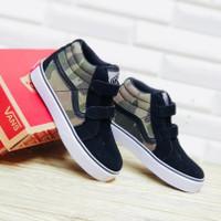 Sepatu Anak Sneaker Casual Laki-Laki Cowo Vans Sk8 Army Grade Original