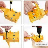 Dowel jig alat pelubang dowel penyambung kayu papan kayu Plywood Drill