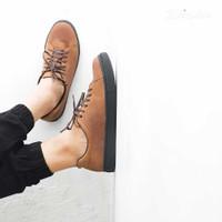 Sneakers Kulit Pria - Winshor - Hazzard - Light Brown