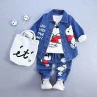 New Setelan Snoopy Denim 3in1 Kids/setelan anak cowo/fashion anak laki