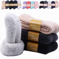 Kaos Kaki Wool Tebal Hangat Bulu Domba Musim Dingin Import