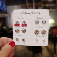 Giwang Anting Tusuk 6 pasang Fashion Jewellery Monday - Saturday
