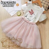 set tutu rabbit kids/setelan rok tutu anak perempuan/fashion anak cewe