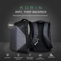 Grey Laptop Backpack with TSA lock Anti-Theft (Basic Version) Korin