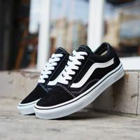 Sepatu Vans Old Skool Black White - 37