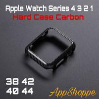 Apple Watch Series 6 5 4 3 21 Carbon Fiber Texture Bumper Case 40 44mm
