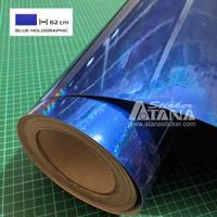 Skotlet Hologram Biru Holographic Bahan Cutting Sticker / Print L 62cm
