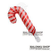 Balon Foil Tongkat Natal Mini / Balon Natal / Balon Tongkat Natal