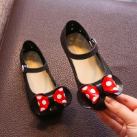 Star Anugerah Sepatu Anak Perempuan Flat Shoes Minnie BOW Jelly Shoes - Hitam, 27