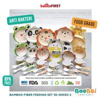 BabiesFIRST Bamboo Fiber Kids Feeding Set Animal 3D / Feeding Set